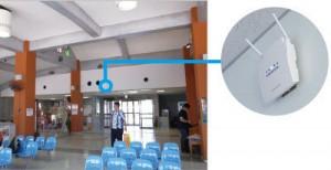 設置されたアクセスポイントACERA(西表島船浦港上原地区旅客待合所
