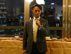 懇親会にて主催者代表挨拶(田中副会長)