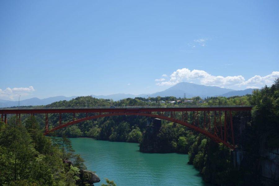 恵那峡の展望台からの眺め